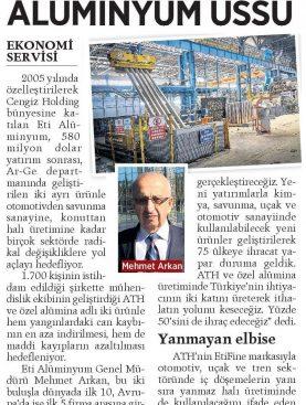 580 Milyon $'lık Alüminyum Üssü - Milliyet Gazetesi 29.10.2017
